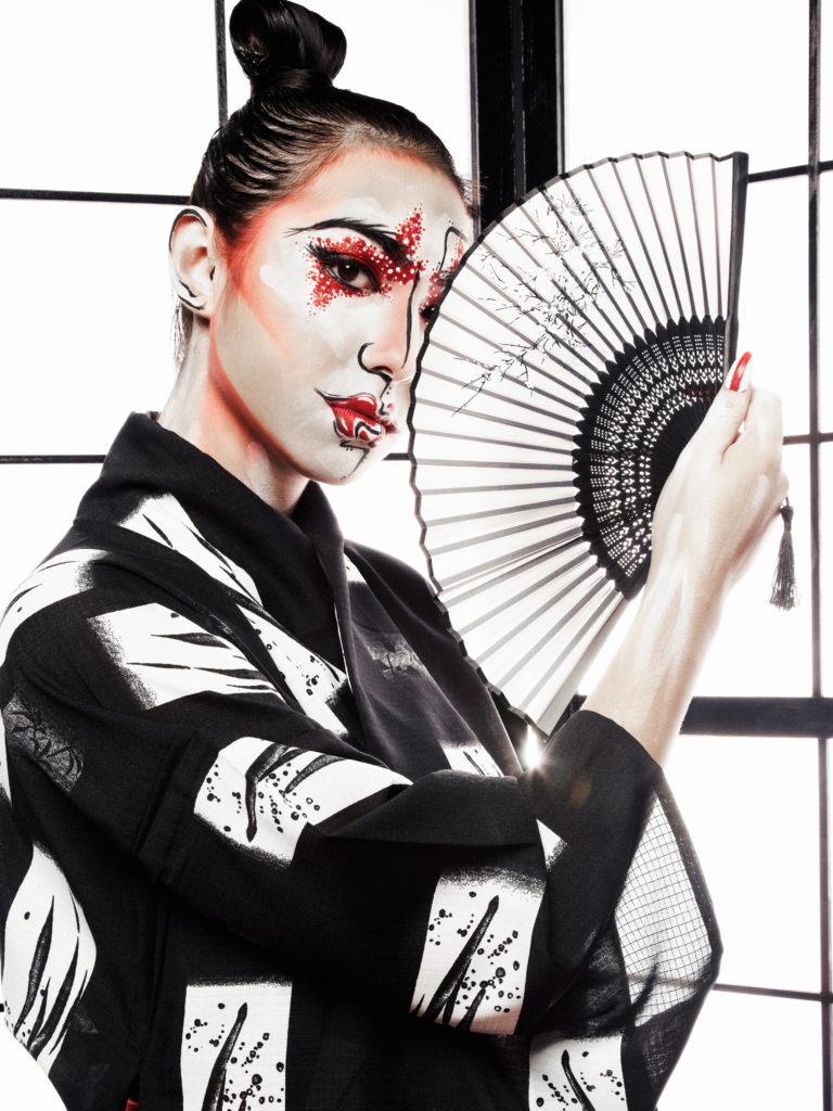 Modern Geisha - makeup by Moonlight Makeup Artist.