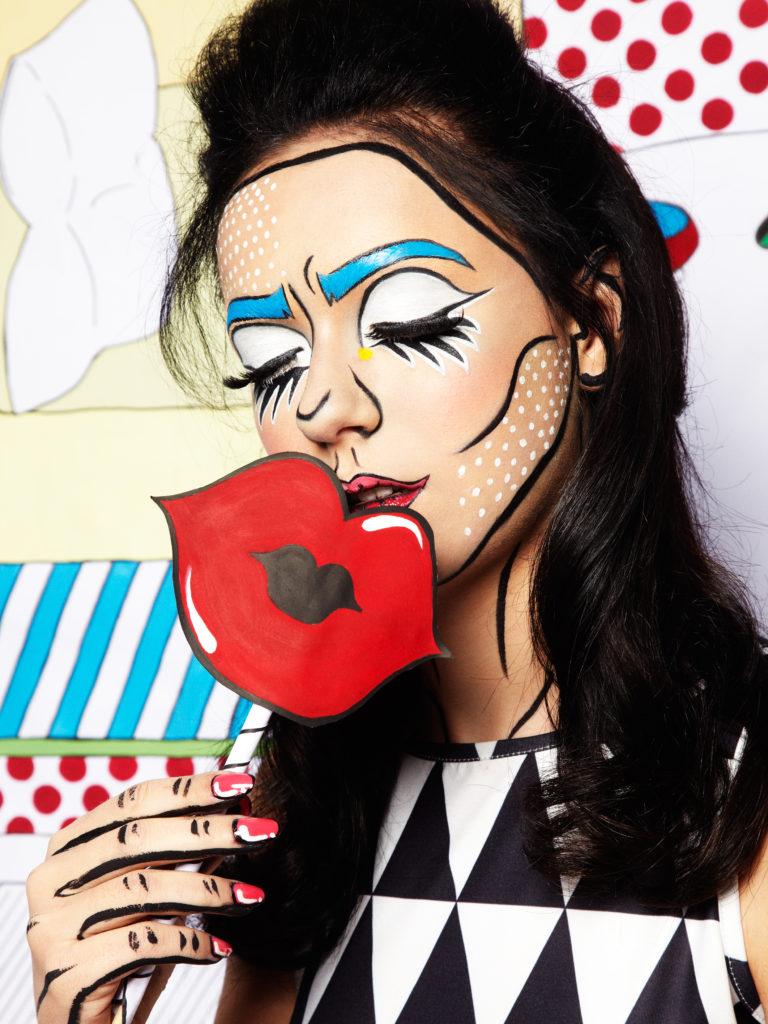 Lichtenstein Girl - makeup by Moonlight Makeup Artist.