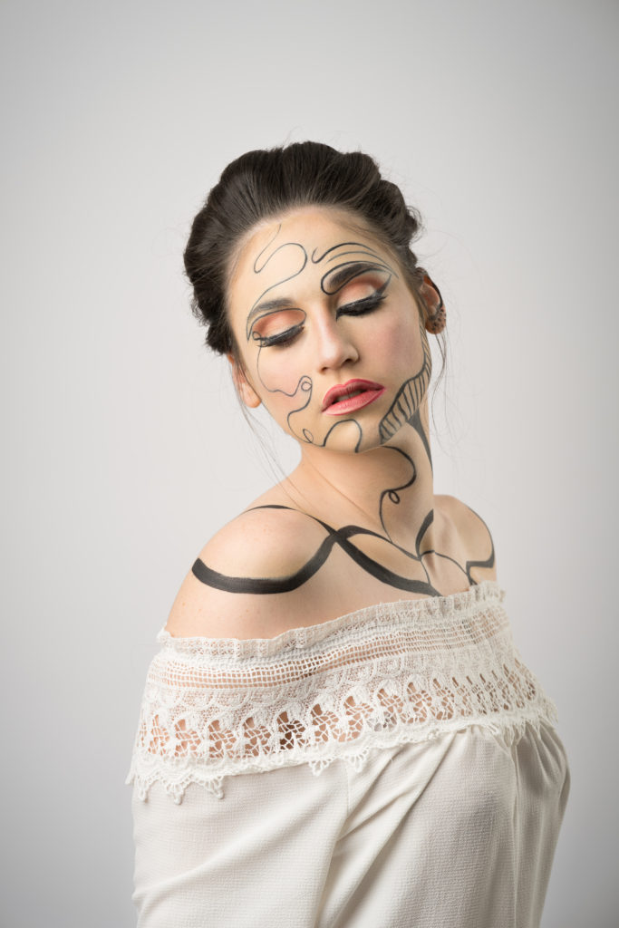 Graphic Lines - makeup by Moonlight Makeup Artist.
