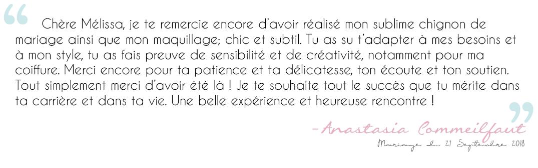 Avis Anastasia Commeilfaut